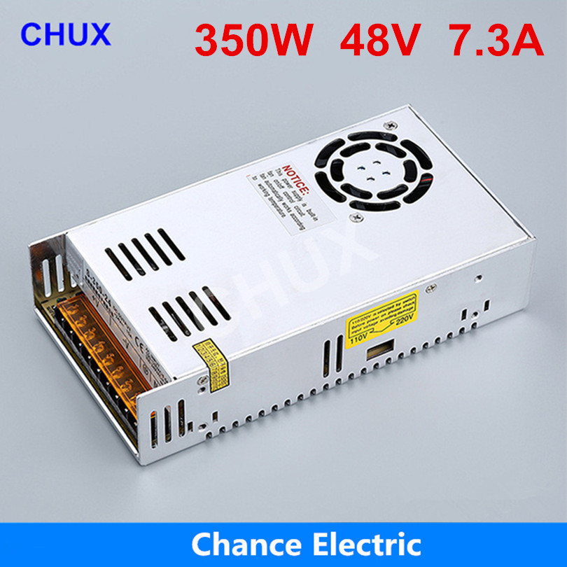Switching Power Supply(S-350-48V) Cooling Fan AC to DC 7.3A For Led Strip 48V power supply 350W s 350 5 cooling fan ac to dc switching power supply 50a 5v power supply 350w