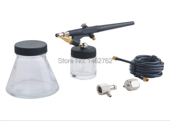 Miễn phí Vận Chuyển Chất Lượng Cao Airbrush Trang Điểm Spray Gun Kit 22cc Cup Set cho Nail Art/Cơ Thể Tattoo/Bánh làm Sơn Tool