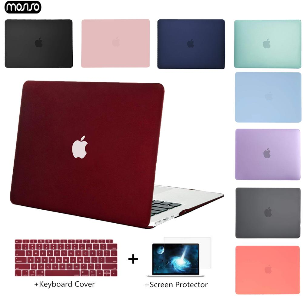 MOSISO Crystal Transparent Hard Case Protect For Macbook Air Retina Pro 13 15 with/out Touch Bar A1706 A1990 AIR 13 2018 A1932 image