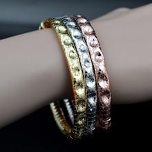 Bracelets Bangles Jewelry Girls Open-Cuff Dubai Wedding Copper Women Round Vintage
