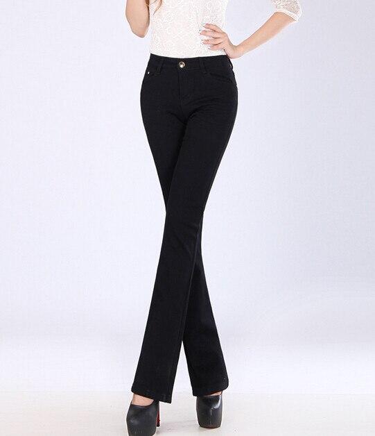 Новинка; женские джинсы большого размера; расклешенные джинсы; повседневные брюки