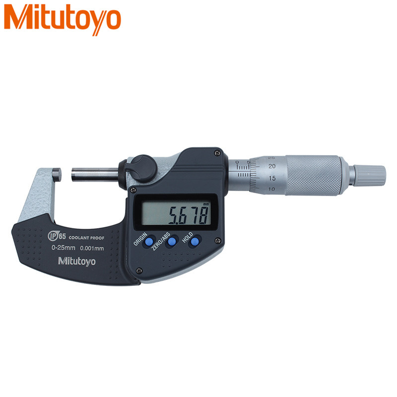 Mitutoyo Digital Micrometer 0 25mm 0 001mm IP65 Metric System 293 240 Screw Gauge Waterproof Measure