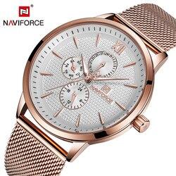 NAVIFORCE męskie zegarki data tydzień sportowe męskie zegarki Top marka luksusowe wojskowe armii biznes zegar kwarcowy ze stali nierdzewnej mężczyzna