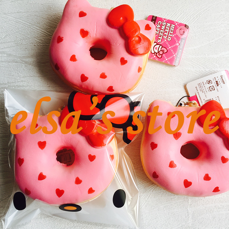 squishies wholesale 20pcs squishy jumbo kawaii hello kitty pink heart donut slow rising squishy ...