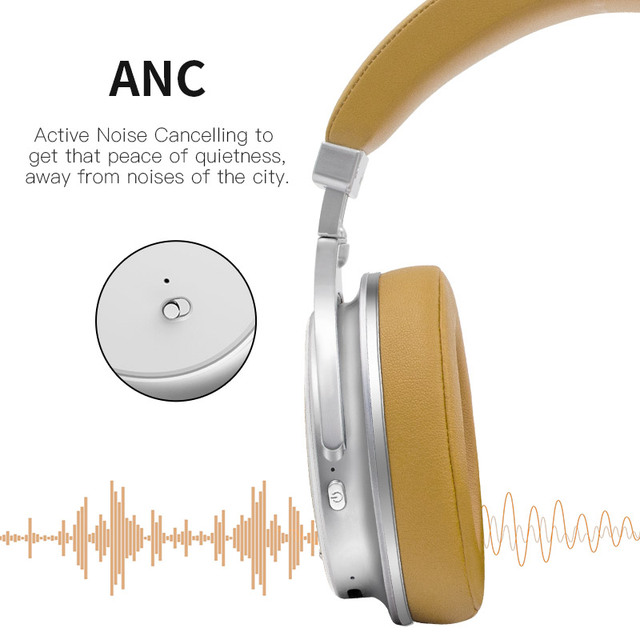 Noise Cancellation Wireless Headphones with Microphone