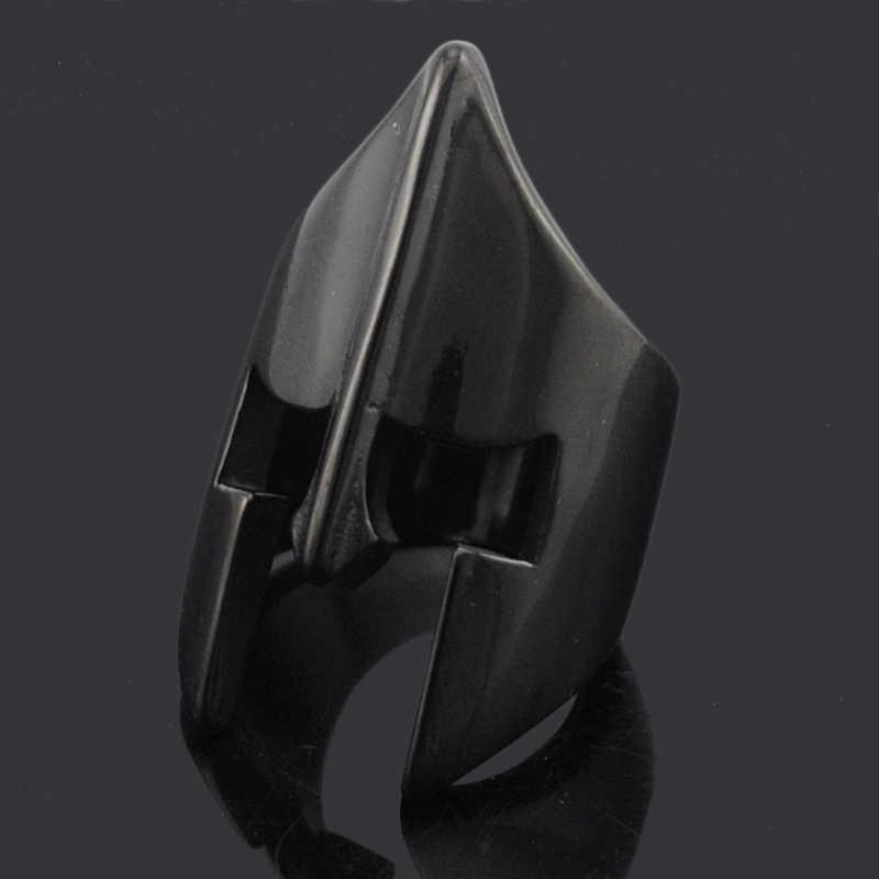 ATGO بارد المتقشف خوذة قناع خواتم للرجال الفولاذ المقاوم للصدأ جديد أزياء الشرير الصخرة نمط 2019 حزب هدية