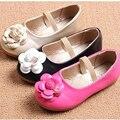 Nuevo Llega la Primavera Y El Otoño de Moda Casual Floral de La Niña Nude Zapatos de Los Cabritos Venda Elástico Llittle Músculo de la Vaca Zapatos de Niño niño
