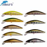 Cebo duro inteligente Minnow 45mm/3,7g Señuelos de Pesca Leurre Souple Isca Señuelos de Pesca Artificial picardías A La Carpe
