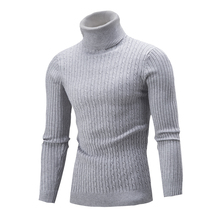 2017 Hot sale new autumn winter fashion Korean men's sweater men cultivating high-necked sweater hedging solid color shirt XXL