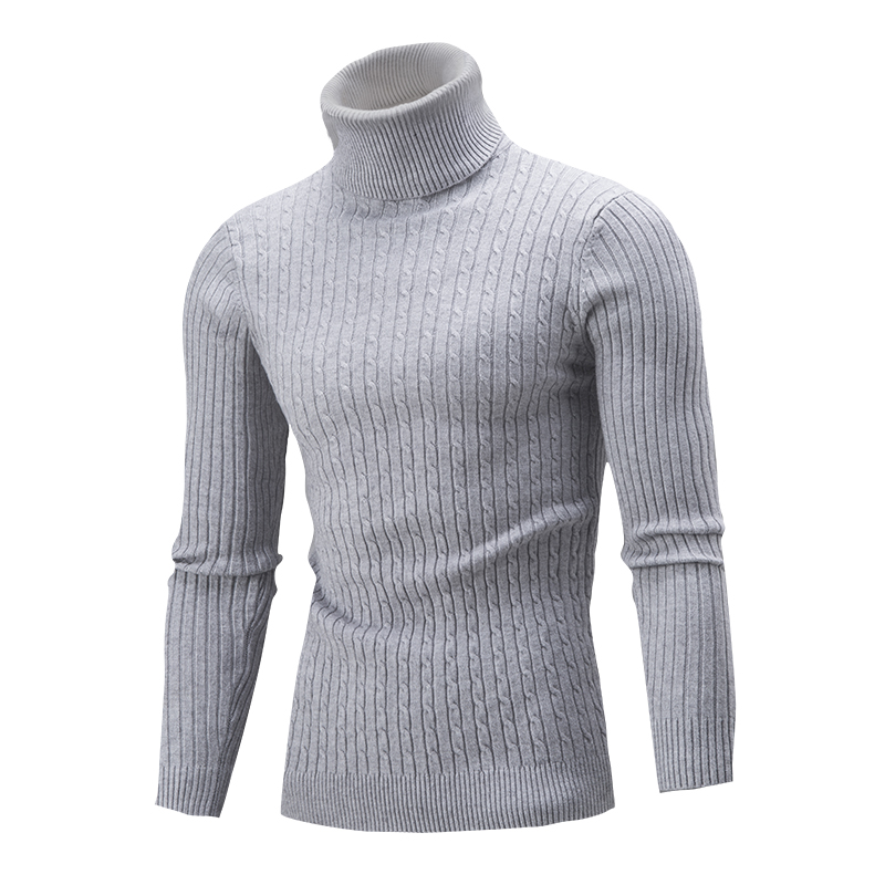 2018 Hot Sale New Autumn Winter Fashion Korean Men's Sweater Men Cultivating High-necked Sweater Hedging Solid Color Shirt XXL