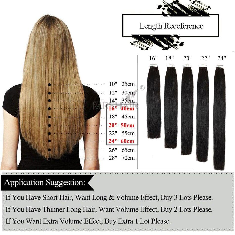 Mrshair 24 Skin Weft Hair Extensions 16 18 20 22 24 Dark