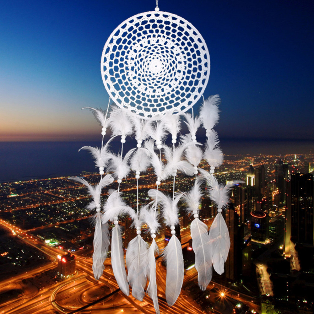 Color art dreamcatcher - Pure White Color Beautiful Lace Wall Hanging Art Craft Wall Decoration Dream Catcher Wind
