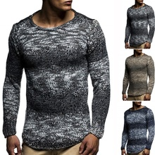 ZOGAA Mens sweater 2019 New Spring Autumn Fashion Casual Sweater O-Neck Slim Fit Knitting Men Pullover Long sleeve coat