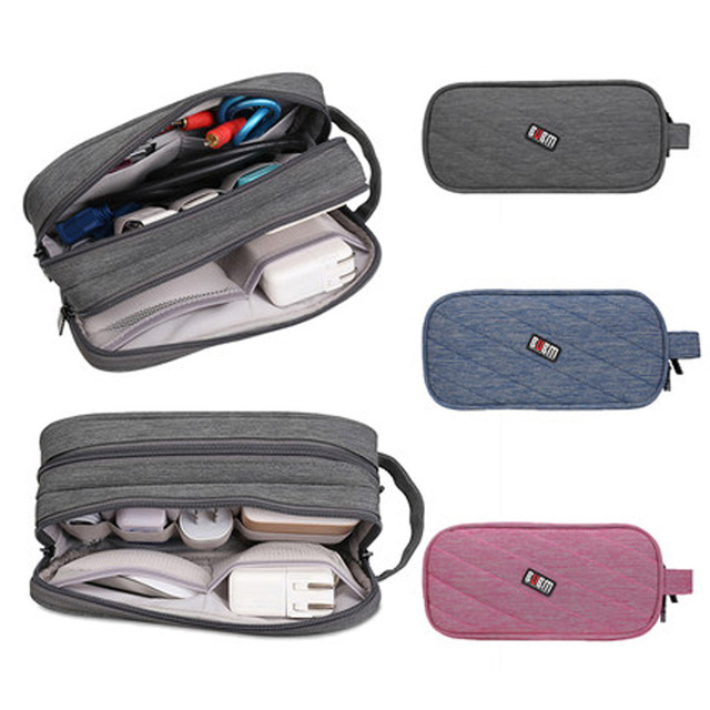 BUBM digital accessories handbag 3 color charger bag 2 layers 3 size  hand bag