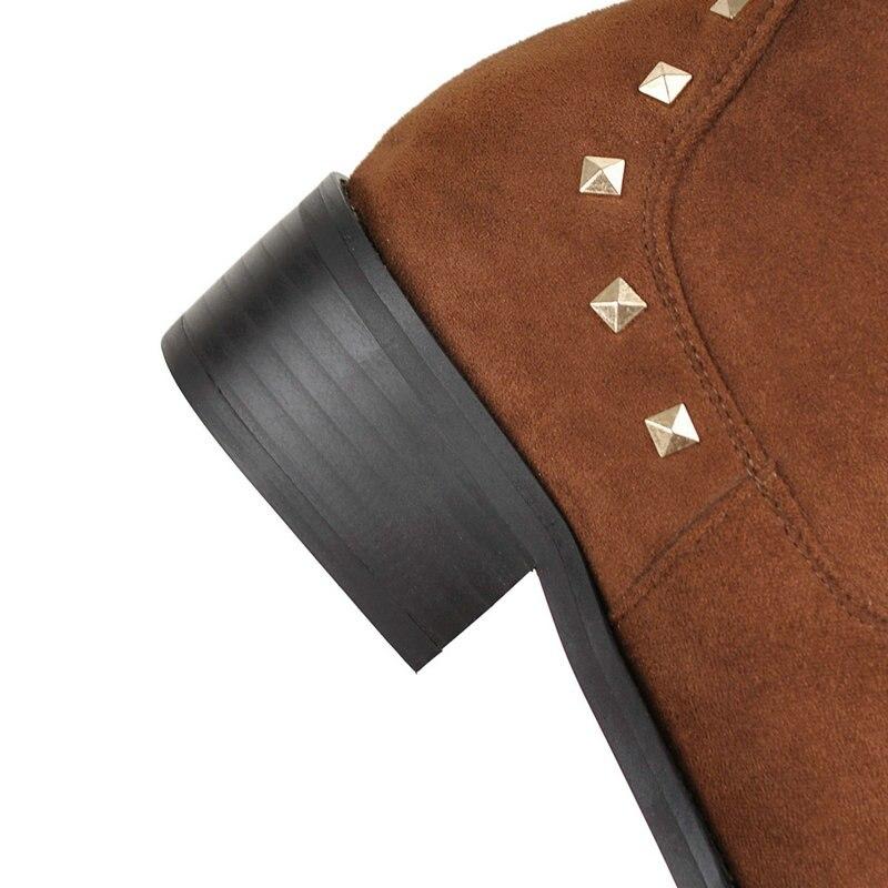 3c575253d2 Saltos Ocidentais marrom Baixos Grande Nemaone Tamanho Mulher Novos 43  Casuais Preto Tornozelo Mulheres Sapatos Outono Primavera ...