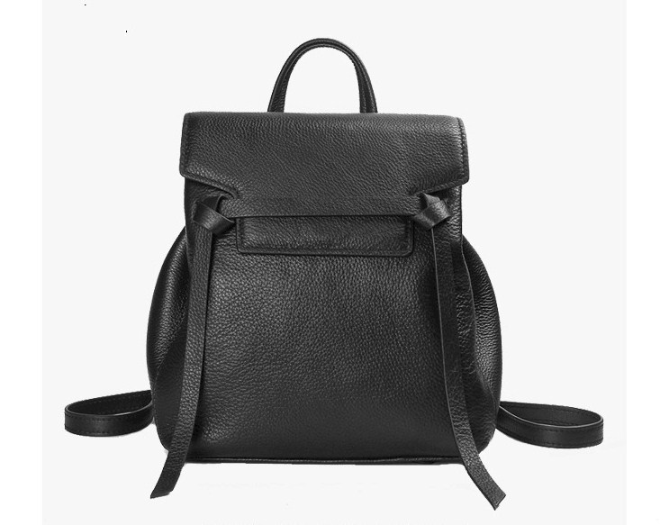 Genuine Leather Texture Soft Belt Backpack School Bag For Women High QualityGenuine Leather Texture Soft Belt Backpack School Bag For Women High Quality