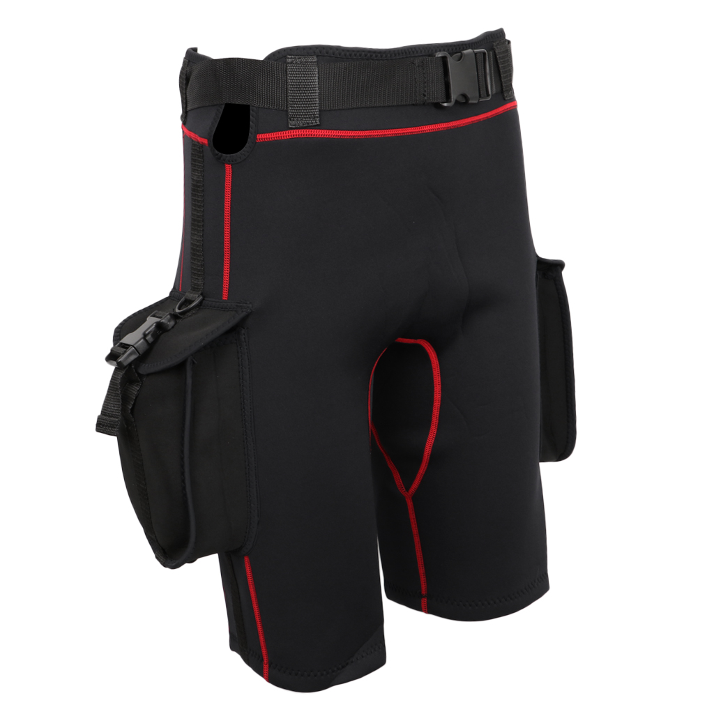 Wetsuit Shorts with Quick Release Belt Buckle Diving Surfing Short Pants with Pockets-in Diving Masks from Sports & Entertainment    3