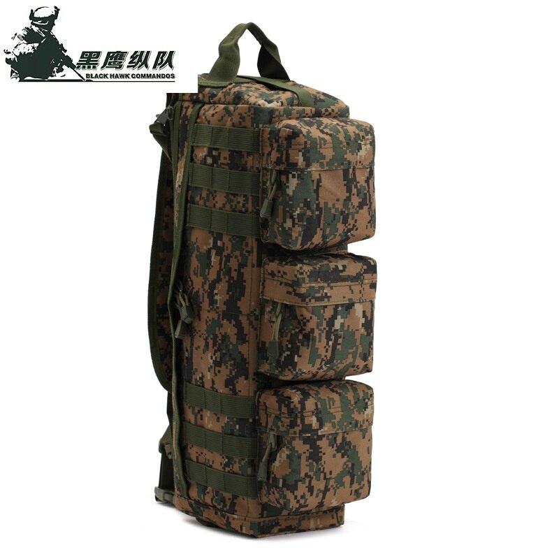 5 Warna Taktikal MOLLE Kembara Mendaki Berkhemah Satu Beg Bahu Pakej Serangan Luar Beg Pemburuan Tentera 177
