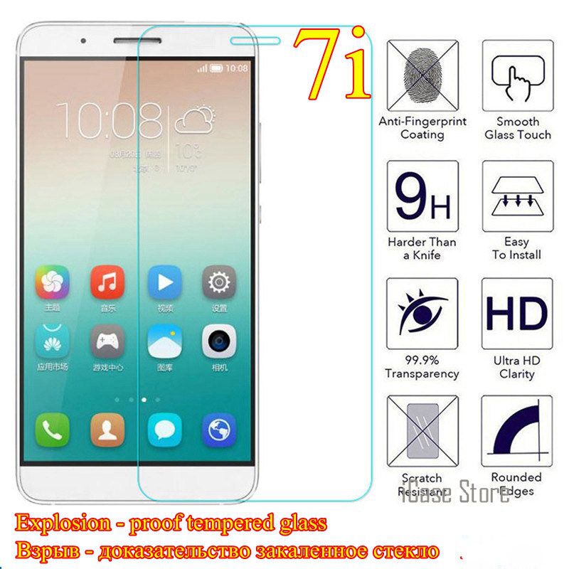 Tempered glass FOR Huawei Shot X Honor 7i 7 I screen protector film FOR