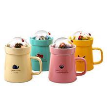 400 ML Kreative DIY Micro Landschafts Garten Keramik Tasse Keramik Deckel Nette Kaffee Tassen und becher Canecas Criativa