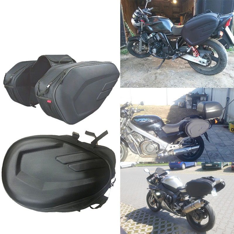 1 Set 36-58L Waterproof Motorcycle Saddle bags Moto Riding Helmet Bag Side Bag Tail Luggage Suitcase with Rain Cover кофры komine
