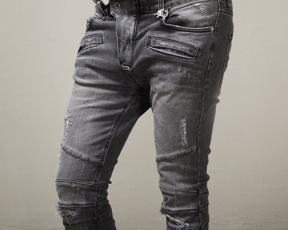 Aliexpress.com : Buy Fashion Distressed ripped skinny jeans men