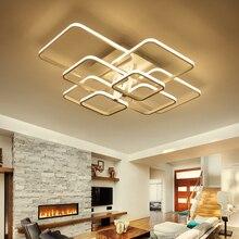 Rechthoek Acryl Aluminium Moderne Led Plafond Verlichting Voor Woonkamer Slaapkamer AC85 265V Wit Plafond Lamp Armaturen