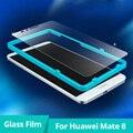 Revestimiento anti-huella digital a prueba de agua película protectora protector de pantalla de cristal templado para huawei mate8 frente con papel de aluminio caja de herramientas