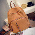 British Wind PU Nubuck Backpack Vintage Women's Backpack Solid School Bags For Teenager Girls Shoulder Bag Casual Travel Bag