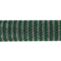 1Sheet Deep Green Hotfix Strass Crystal Hotfix Rhinestone Chain Beaded Applique Iron on Stickers Clothes Accessories T2489
