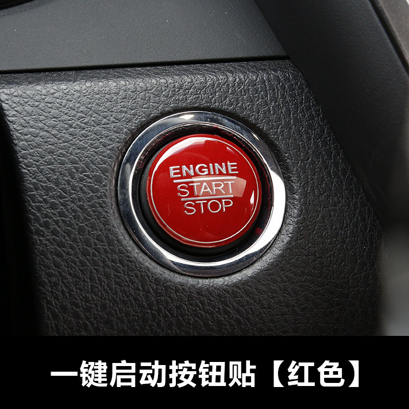 Alu Alloy Engine Start Stop Button Cover Ring For Toyota Camry 2018 Red//Black