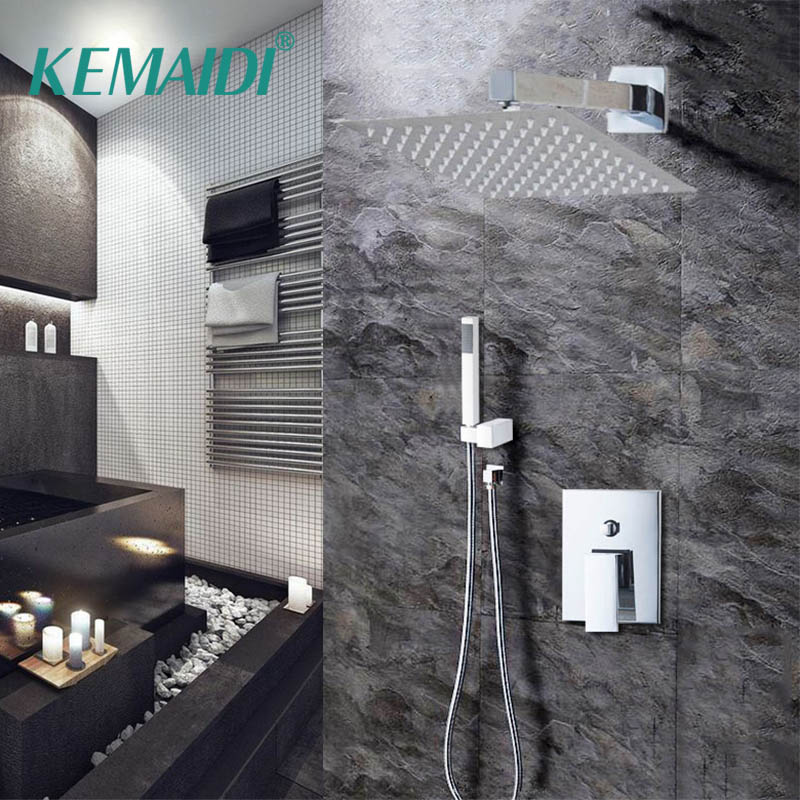 Bathtub Rainfall Shower Head Polished Wall Mouned 360 Degree Swivel Panel Mixer Taps Shower Faucets Set Chrome Finish Shower Faucets Back To Search Resultshome Improvement
