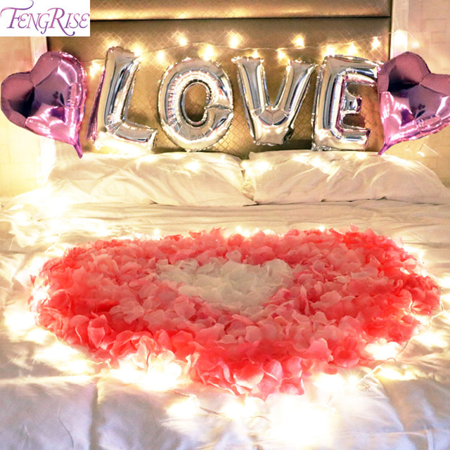 Fengrise bedroom romantic lights diy wedding decoration light silver fengrise bedroom romantic lights diy wedding decoration light silver heart love balloon foil valentines decorations for junglespirit Image collections