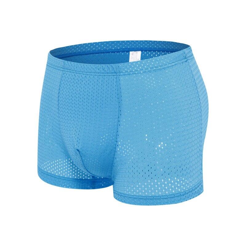 Man Boxer Underwear Silky Bamboo Breathable Mesh Sexy Men's Fashion Summer Slim Best-Price
