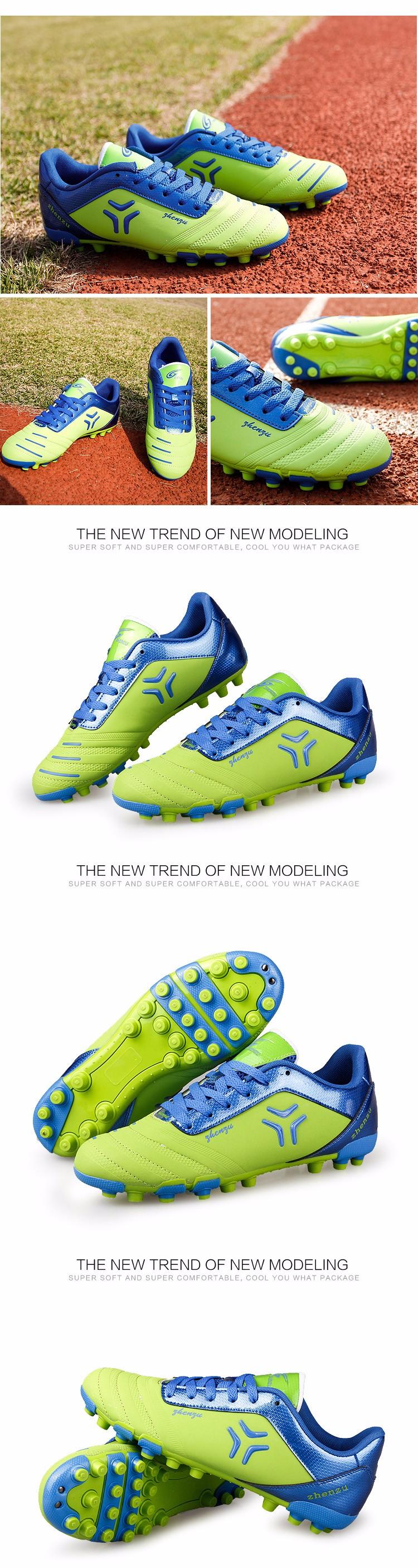 ZHENZU 2017 Football Shoes Soccer Cleats Boots chuteira futebol Training Teenagers Kids AG Artificial Ground chaussure foot  1