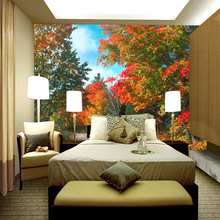 Customized 3D stereo seamless large wallpaper Living room porch aisle vertical corridor embossed tropical trees  5D