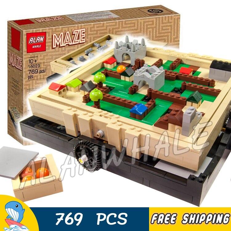 769 pièces idées classique style médiéval labyrinthe stade balle labyrinthe jeu 16023 modèle blocs de construction jouet briques Compatible avec Lago