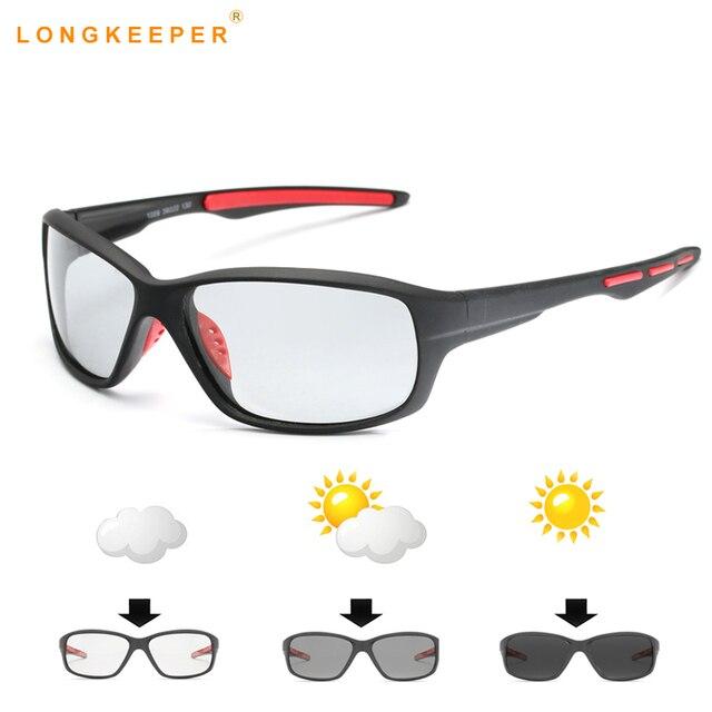 2da532ea04dcb 2018 Photochromic sunglasses Chameleon Polarized sun glasses Men Women Driving  Anti-glarew shades Male UV400