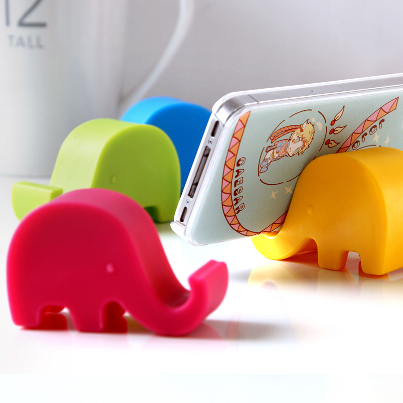 Cute Candy Color Pen Phone Plastic Stands Holders Table Organizer Storege Rack