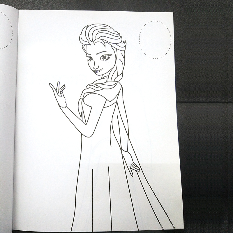 16 pages Snow Princess Girls Coloring Book Sticker Book For kids Children Adults colouring Painting Drawing story color books   (8)
