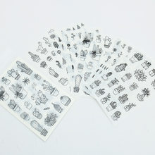 6 sztuk/paczka miłość żywność w podróży kaktus roślin dekoracyjne naklejki papiernicze Scrapbooking DIY pamiętnik Album Stick label
