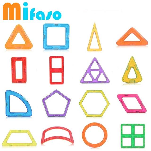 Mifaso 1 шт. детские Строительные Блоки Игрушки Монтажные Блоки Дизайнер Модели и Строительство Игрушки Магнитные Пластиковые Кирпичи Детей Игрушки