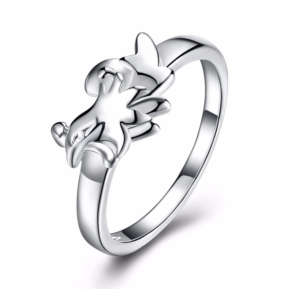 High-quality Silver Plated Cock Ring Design Cute Fashion Jewelry Chinese Zodiac Ring For Women and Girl Gifts charms Anel