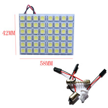 1 Set Car Panel Reading Map Lamp 5050 6 12 15 20 24 48 LED SMD Dome Interior Bulb Roof Lights BA9S T10 C5W Adapter Festoon Base цена