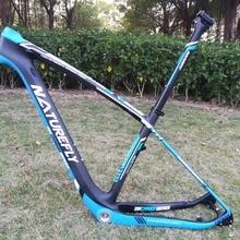 Новое поступление!! 29er горная углеродистая сталь Рама велосипеда 135/142 синий/черный/белый