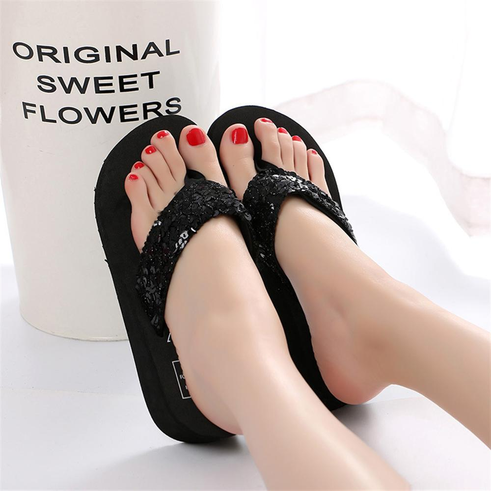 shoes woman sandalia feminina flip flop sandalias wedges Summer Plus Size ladies shoes Platform Wedges Female Beach Bohemia 2018
