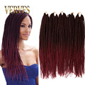 5pcs/lot Black/Burgundy Ombre Senegalese Twist Hair 18inch 27roots synthetic Braiding Hair Havana Mambo Twist Crochet Braid Hair