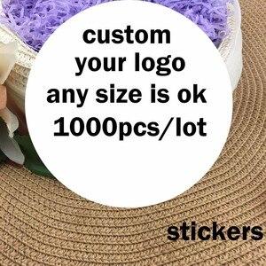 Пользовательские наклейки напечатанные логотип прозрачный клейкий круглый лейбл karft стикер свадебные наклейки самоклеющиеся украшения дл...