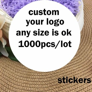 カスタムステッカー印刷されたロゴ透明な接着剤ラウンドラベル karft ステッカー結婚式のステッカー自己粘着パーティーの装飾のギフト