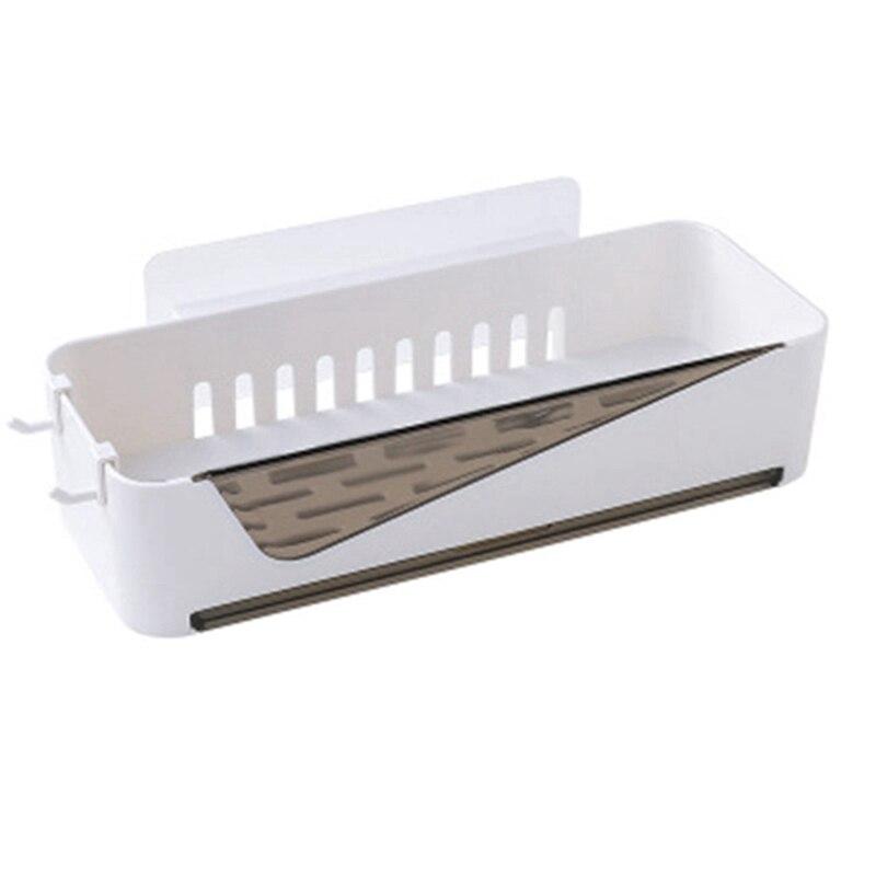 Permalink to Punch-Free Bathroom Shelf Plastic Toilet Bathroom Vanity Wall Hanging Bathroom Storage Rack Basket No Trace Stickers